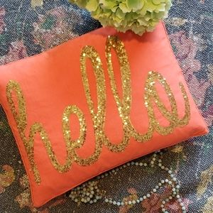 "😍5 for $25 Gold Sequin ""hello"" Pillow"